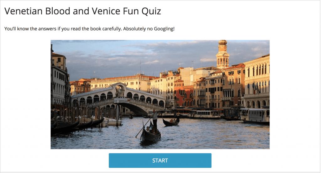 Venetian Blood Quiz